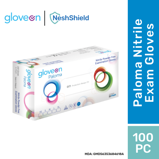 Picture of 1 x GLOVEON Paloma Nitrile Gloves - Size L 100pc