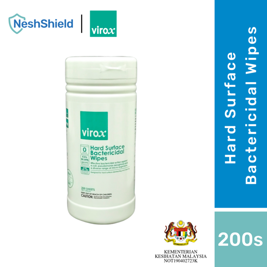 Picture of 1 x VIROX Hard Surface Bactericidal Wipes 200s